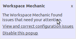 Eclipse Workspace Mechanic